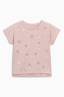 Sequin Star Short Sleeve T-Shirt (3-16yrs)