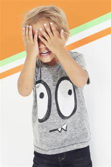 Short Sleeve Halloween Face T-Shirt (3mths-6yrs)