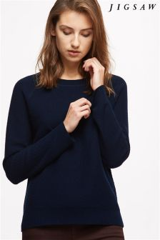 Jigsaw Navy Cashmere Twill Lounge Jumper