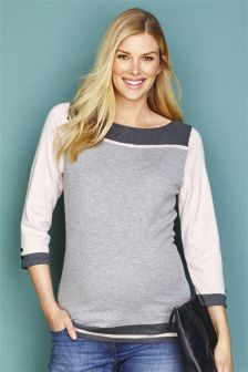 Maternity Rib Neck Sweater