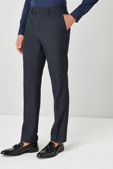 Buy Fit Slim Blue Trousers suits Men's from the Next UK online shop