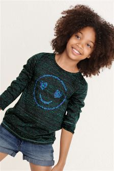 Long Sleeve Smiley Face Top (3-16yrs)