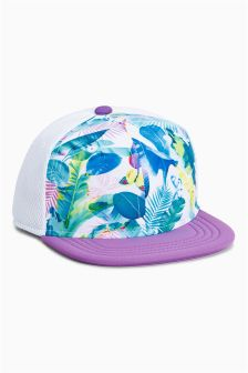 Tropical Print Cap (Older Girls)