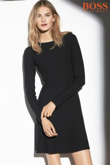 Boss Orange Black Lesibell Knit Dress