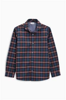 Smart Check Long Sleeve Shirt (3-16yrs)