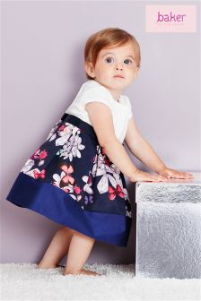 Ted Baker Navy And White Dress