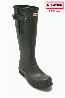 Hunter Original Olive Side Adjustable Welly