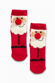 Cosy Santa Socks (Older Girls)