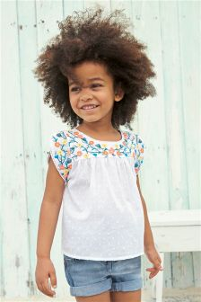 Bright Embroidered Blouse (3mths-6yrs)