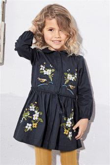 Embroidered Dress With Tights (3mths-6yrs)