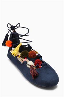 Ghillie Pom Shoes (Older Girls)