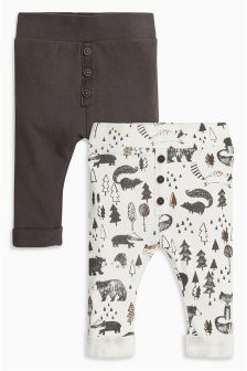 Printed Joggers Two Pack (0mths-2yrs)