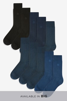 N Embroidered Socks Ten Pack