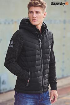 Superdry Black Hybrid Padded Jacket