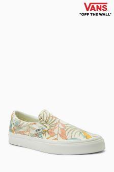 Vans Cream Floral Slip-On
