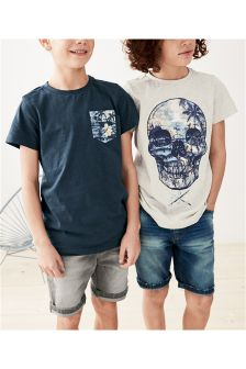 Skull T-Shirts Two Pack (3-16yrs)