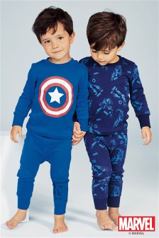 Captain America Pyjamas Two Pack (3-10yrs)