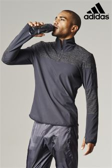 adidas Run Black Storm 1/2 Zip Top