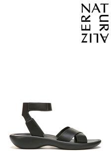 Curved Kitten Heel Sandals