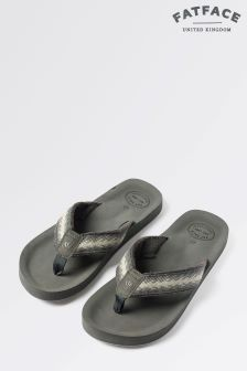 Fat Face Light Grey Harris Flip Flop