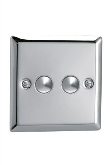 Chrome Double Touch Dimmer Switch