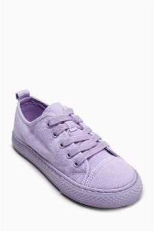 Washed Lace-Up Trainers (Older Girls)