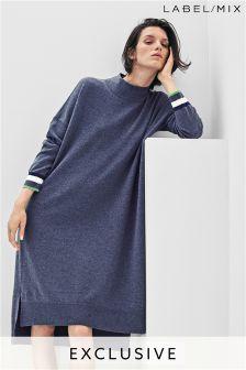 Mix/J.Won Oversized Turtleneck Knit Dress
