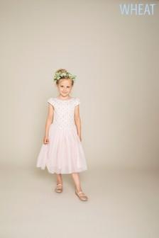 Wheat Pink Snow White Detail Dress