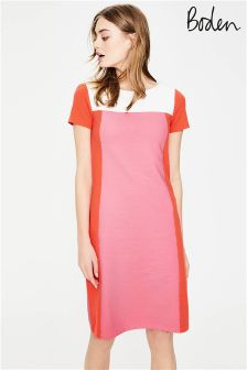 Boden Azalea Red Pop Jeanette Ottoman Dress