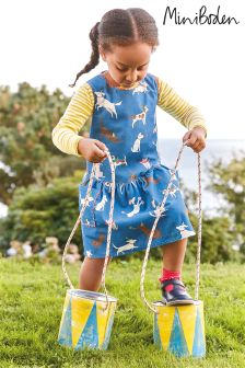Boden Blue Cord Pinafore Dress