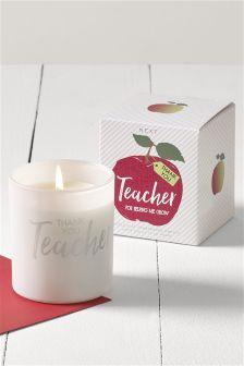 Thank You Teacher Candle