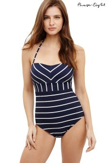 Phase Eight Navy/Ivory Stephanie Stripe Swimsuit