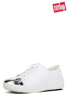 FitFlop™ White F-Sporty™ Mirror Toe Sneaker