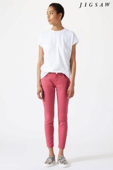 Jigsaw Pink Garment Dye Richmond Jean