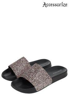 Accessorize Pink Glitter Sparkle Slider