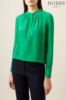 Hobbs Apple Green Kali Blouse