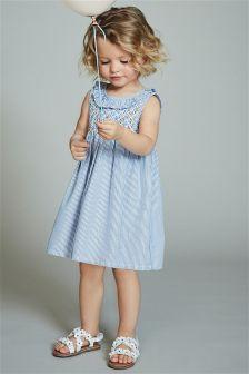 Ruffle Neck Smock Dress (3mths-6yrs)
