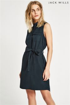 Jack Wills Digby Sleeveless Shirt Dress