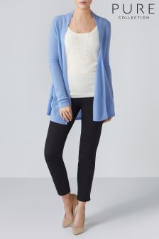 Pure Collection Blue Gassato Swing Cardigan
