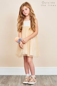 Outside The Lines Nude Tutu Petticoat Dress