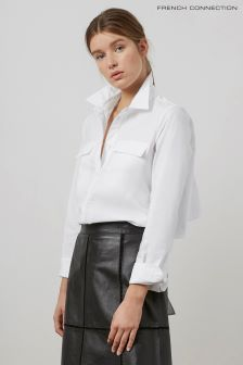 French Connection White Loose Shirt