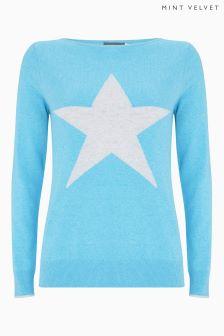 Mint Velvet Star Crew Neck Knit