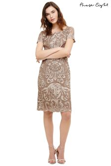 Phase Eight Praline/Cream Talia Dress
