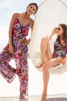 Print Culotte Jumpsuit