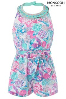 Monsoon Pink Pearly Playsuit