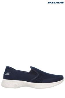 Skechers® Blue Go Walk 4 Attuned Navy Twin Gore Slip-On