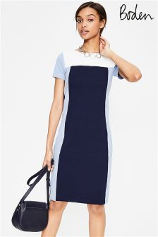 Boden Navy Hazy Sky Jeanette Ottoman Dress