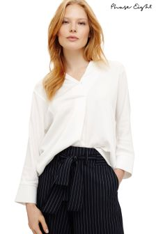 Phase Eight Ivory Brogan Tencel® Shirt