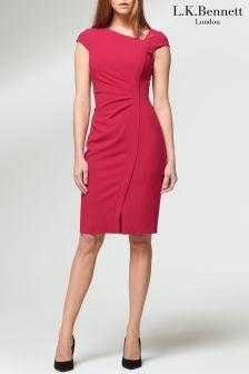L.K.Bennett Pink Tassa Dress