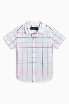 Check Short Sleeve Shirt (3mths-6yrs)